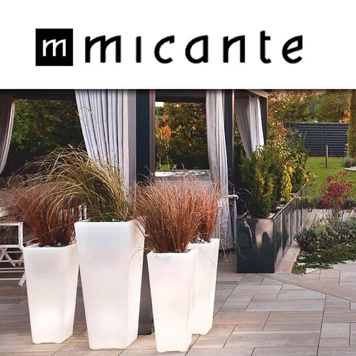 Micante - външно осветление и светещи кашпи