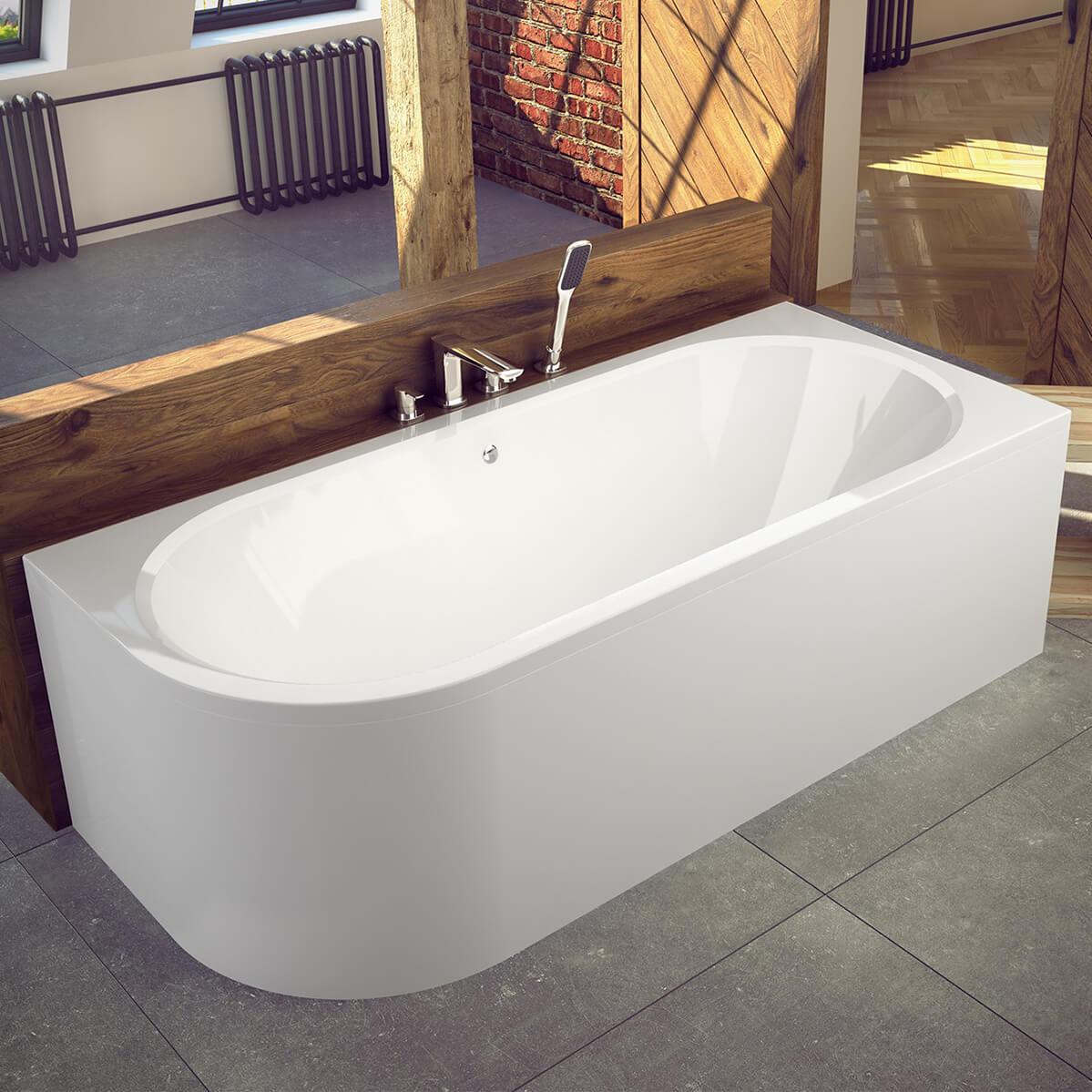 Асиметрична вана за вграждане Avita 180 L/R