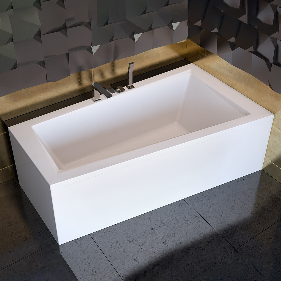Асиметрична вана за вграждане Intima 160L/R