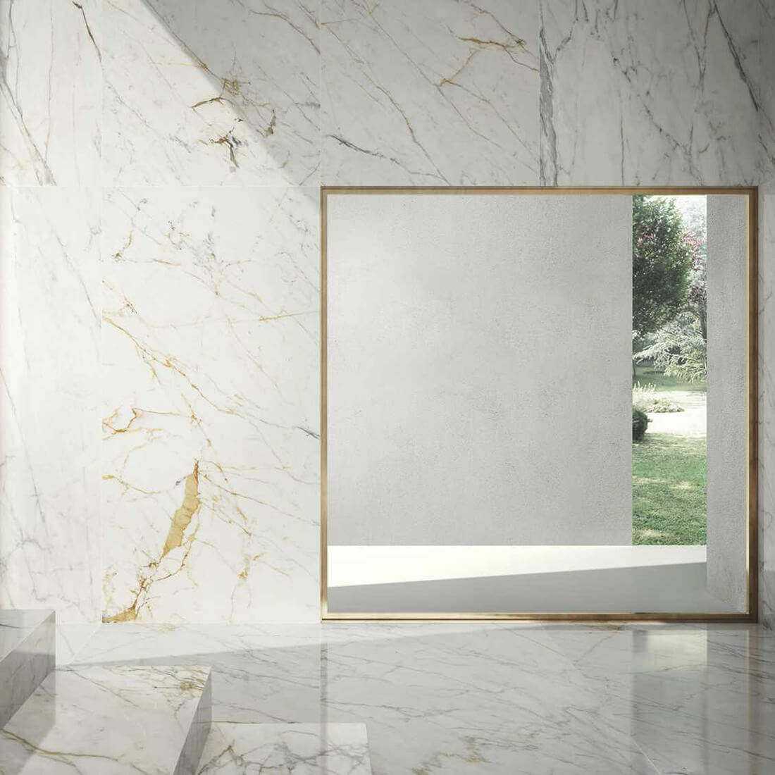 Гранитогрес Grande Marble Golden White lux 120 x 240 II