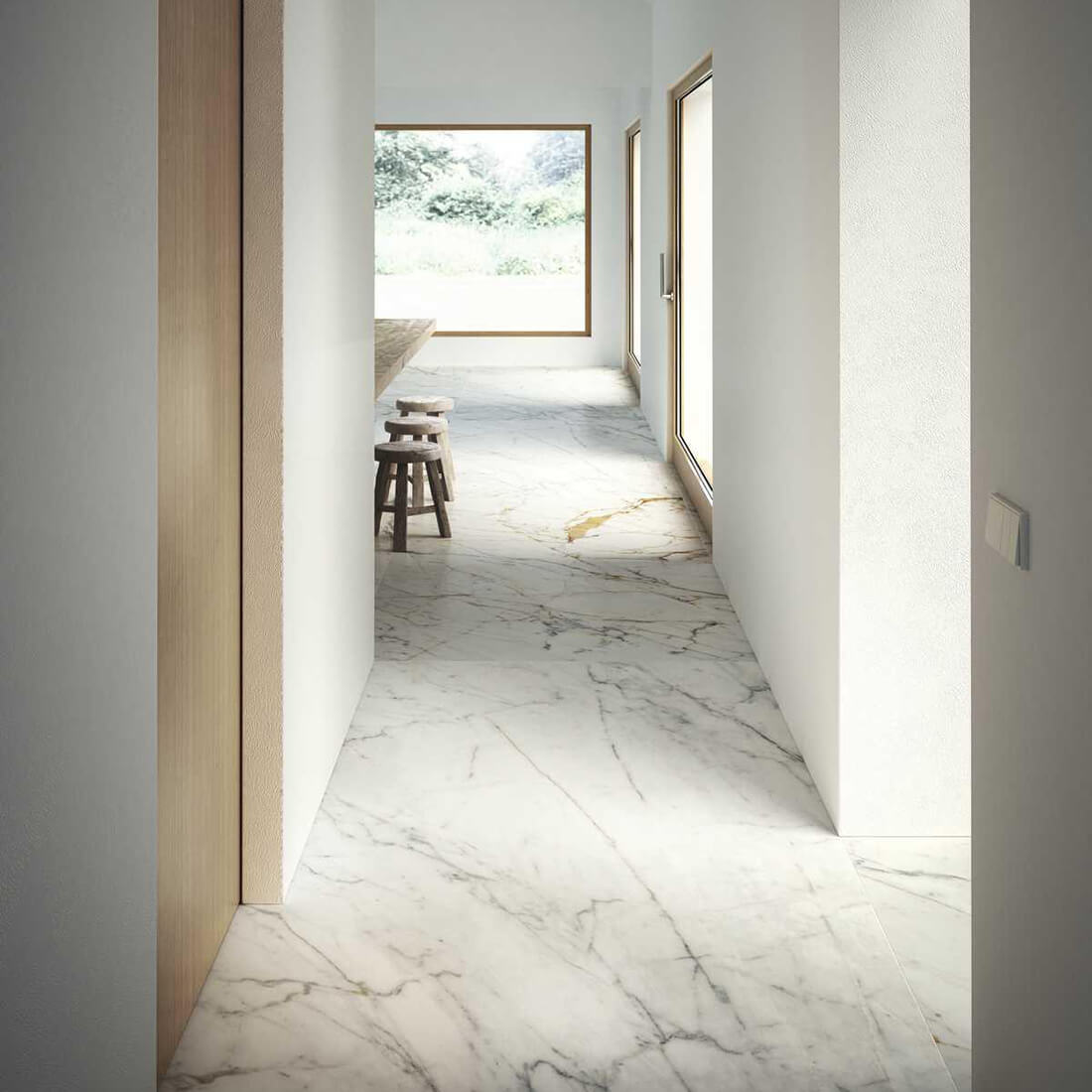 Гранитогрес Grande Marble Golden White lux II 120 x 240