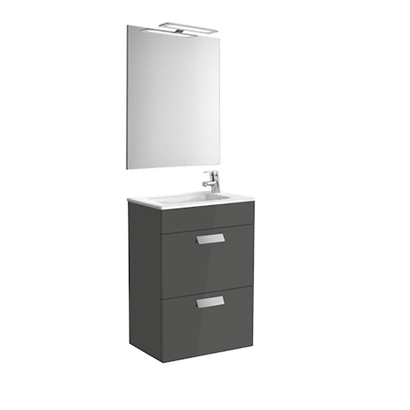 Roca Debba - компактен шкаф за баня с огледало Pack 500