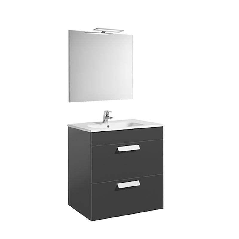 Roca Debba - компактен шкаф за баня с огледало Pack 700