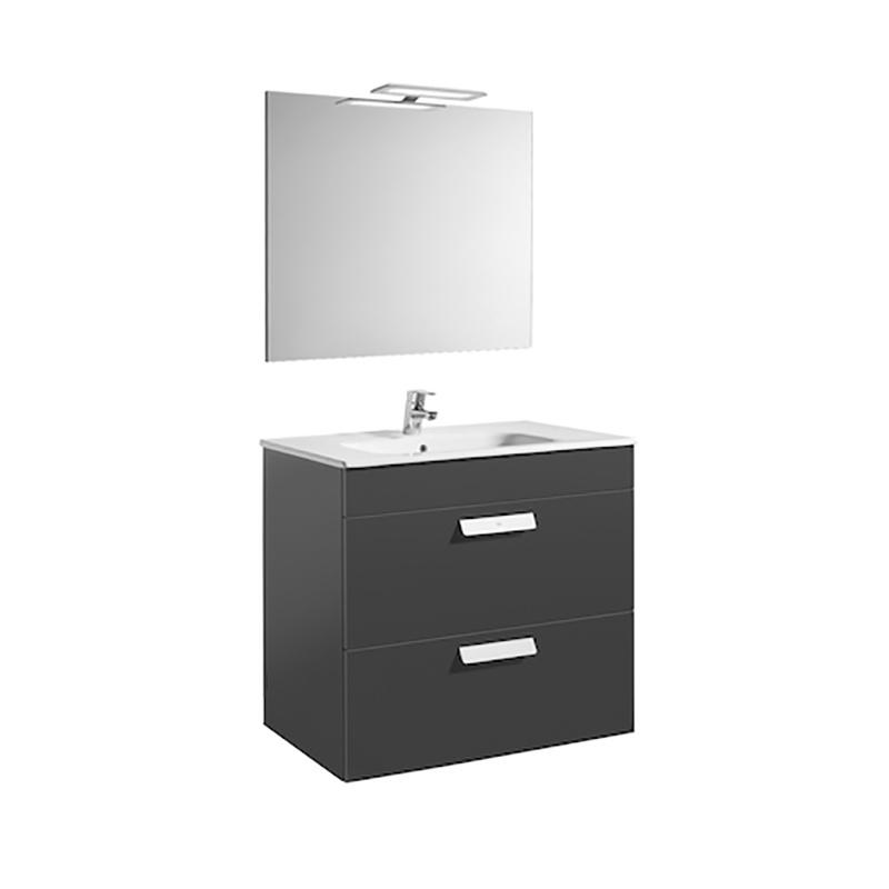 Roca Debba - компактен шкаф за баня с огледало Pack 800
