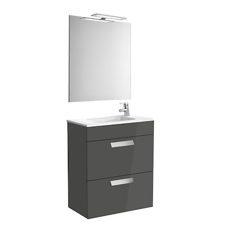 Roca Debba - шкаф за баня с огледало Pack 600