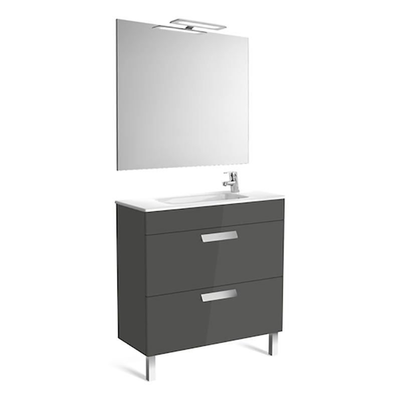 Roca Debba - шкаф за баня с огледало Pack 800