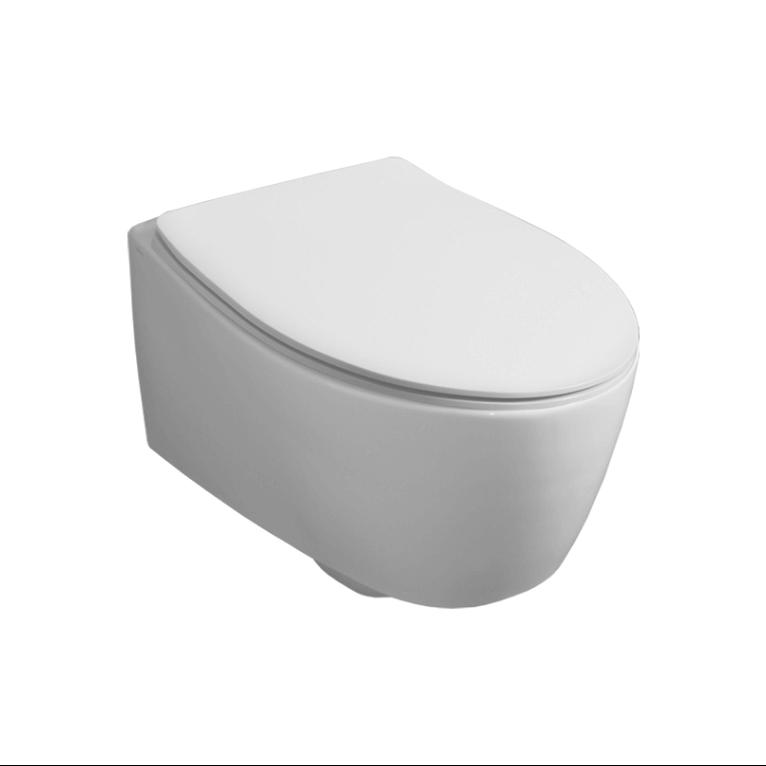 Окачена rimless тоалетна чиния Slim Seat - FTL Spazio