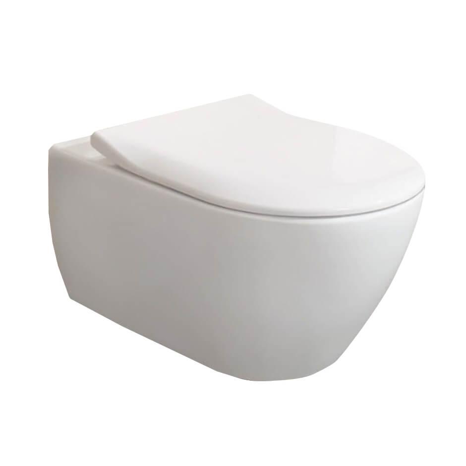 Тоалетна чиния с капак със забaвено падане Slim Seat
