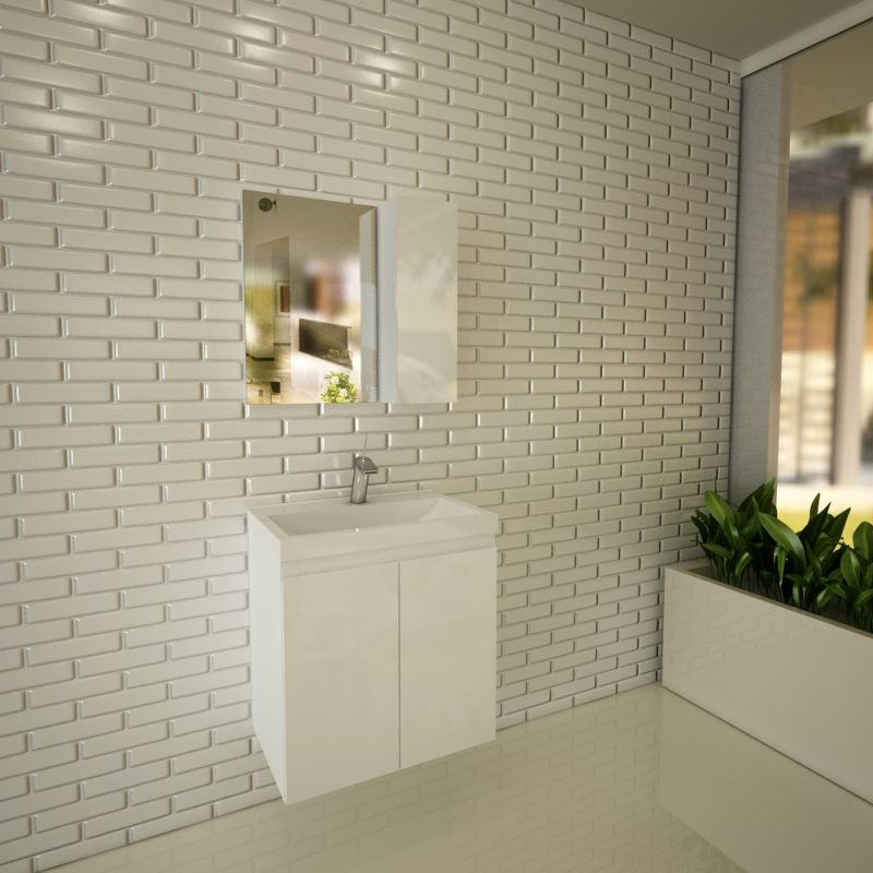 Горен шкаф с огледало за баня Diverso