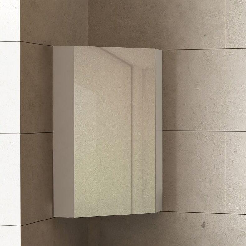 Горен шкаф с огледало за баня Dolce ъглов