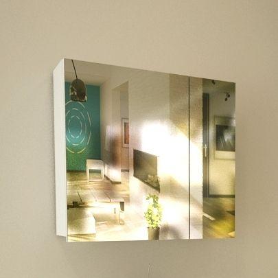 Горен шкаф с огледало за баня Fiore