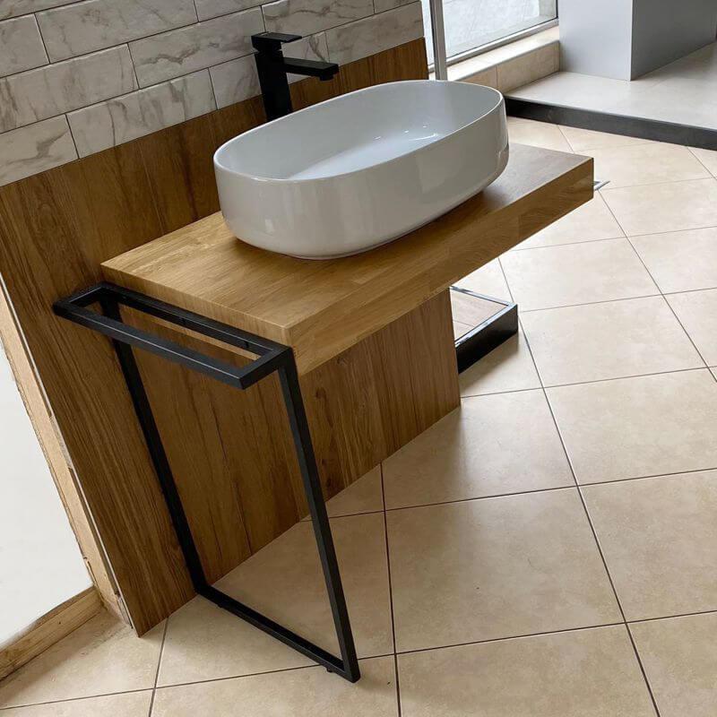 Дървен плот за мивка Libra с конзола за хавлия