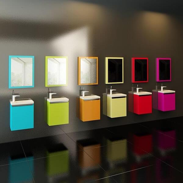 Малък шкаф за баня Minion