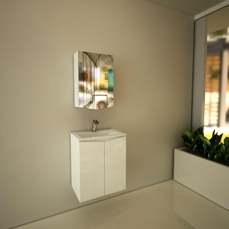 Горен шкаф с огледало за баня Mona