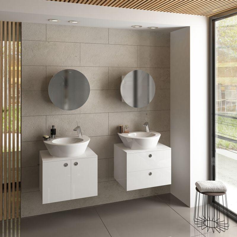 Горен шкаф с огледало за баня Ponto