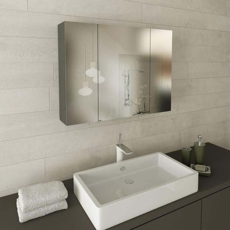 Горен шкаф за баня с огледала Praktis