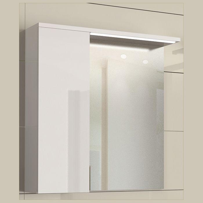 Горен шкаф с огледало за баня и осветление Stella