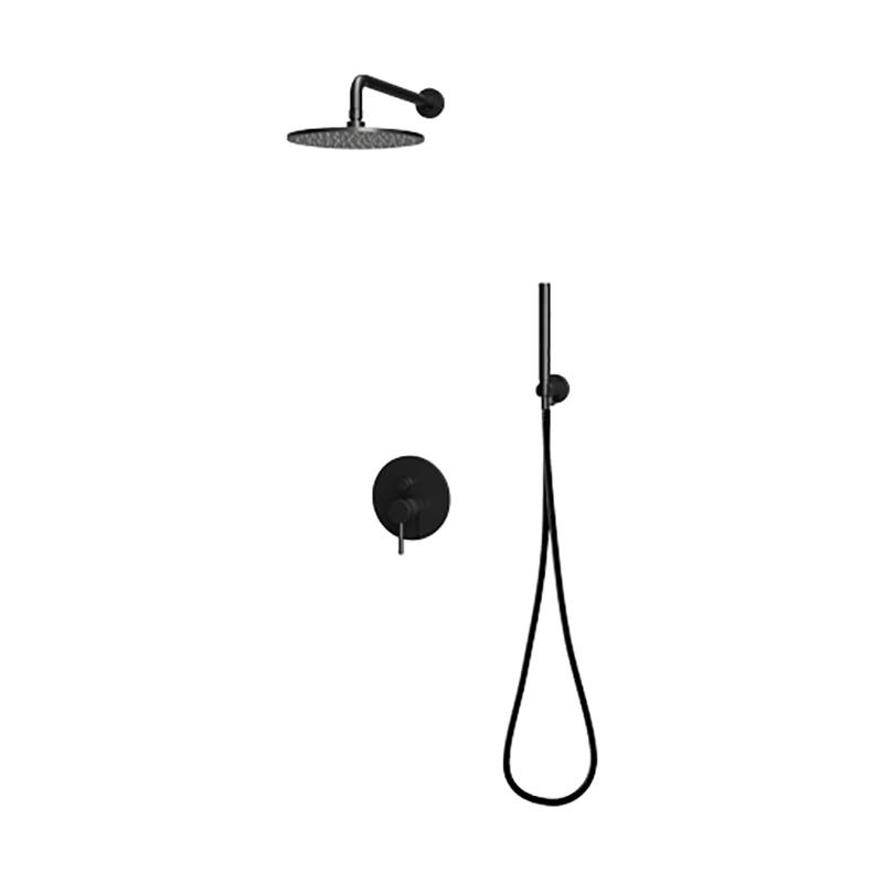 Италианска душ система за вграждане II - черен мат