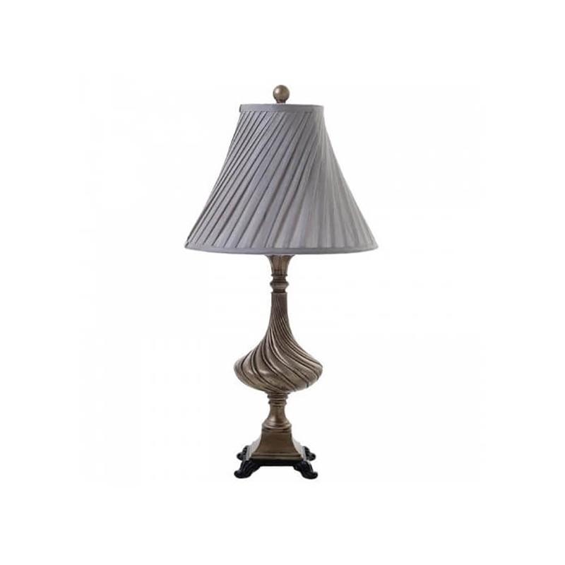 Полирезинова настолна лампа - сиво