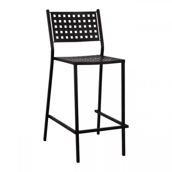 Градински метален бар стол Zeta