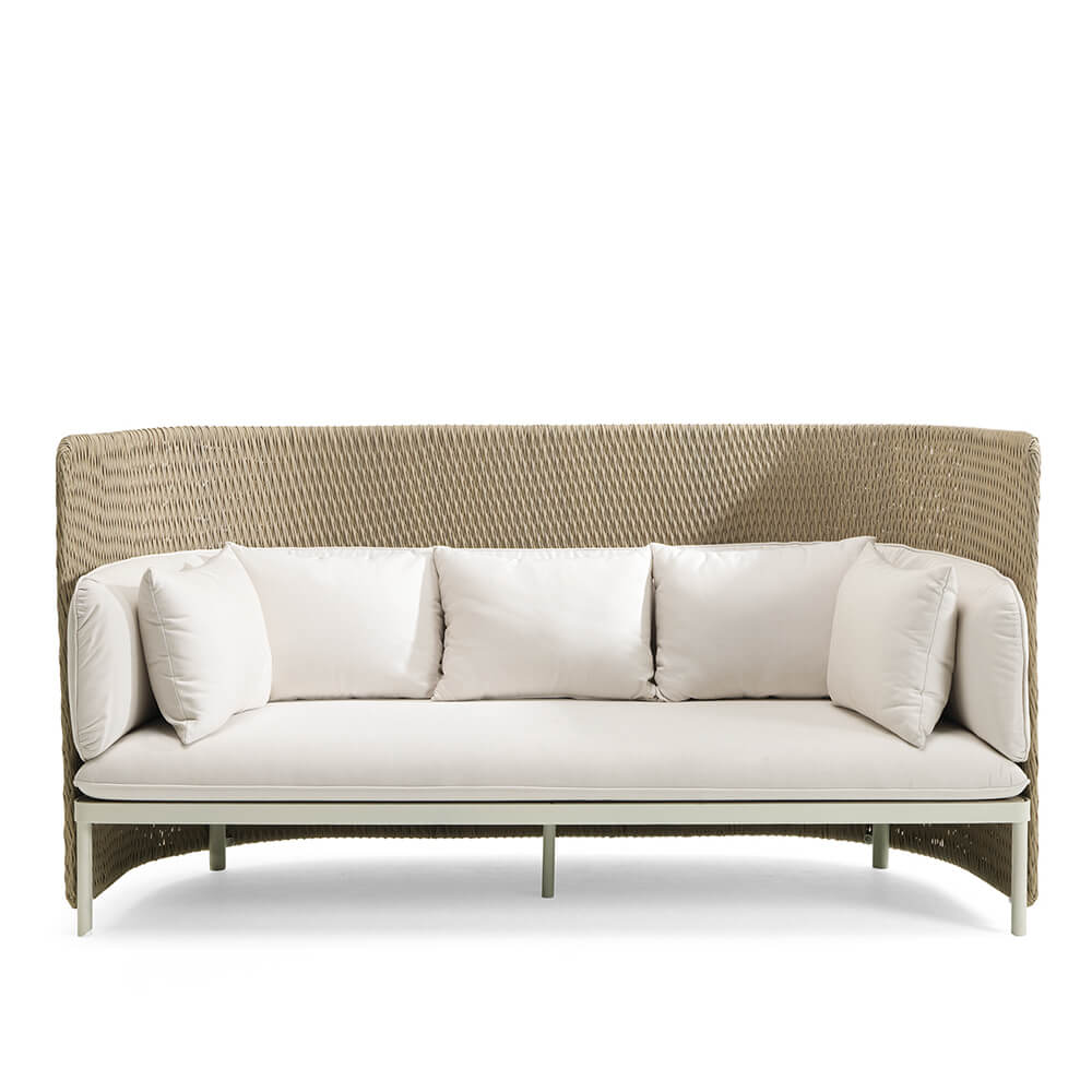 Градински триместен диван с висока облеглка, колекция Esedra