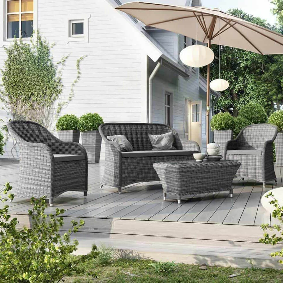 Outdoor set, gray, Leonardo