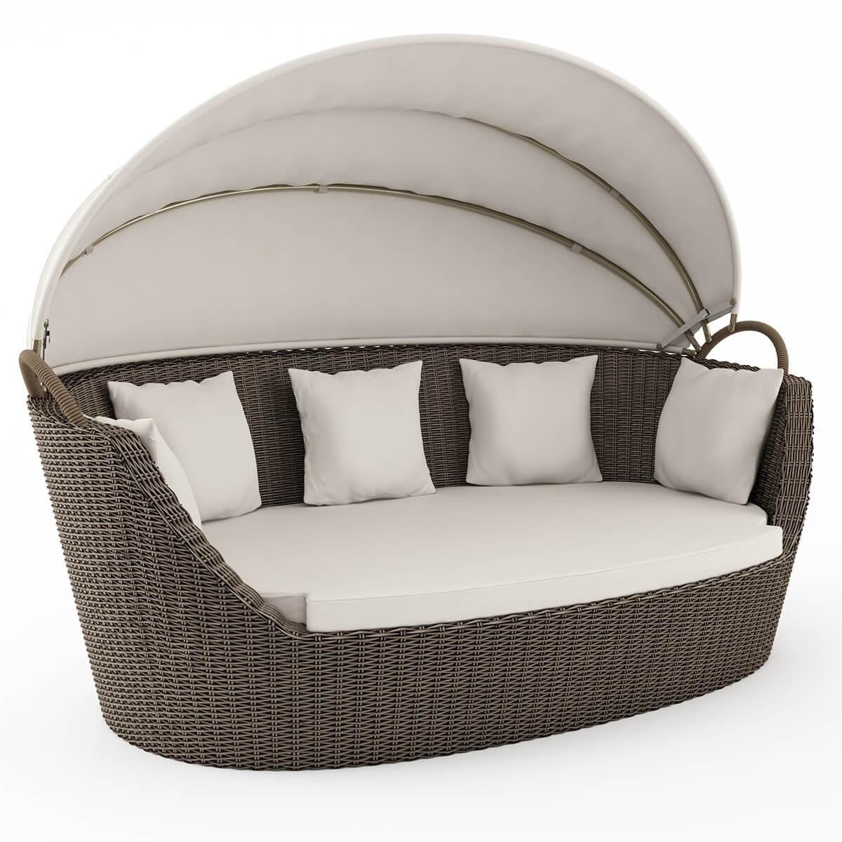 Градински диван, кафяв, Portofino