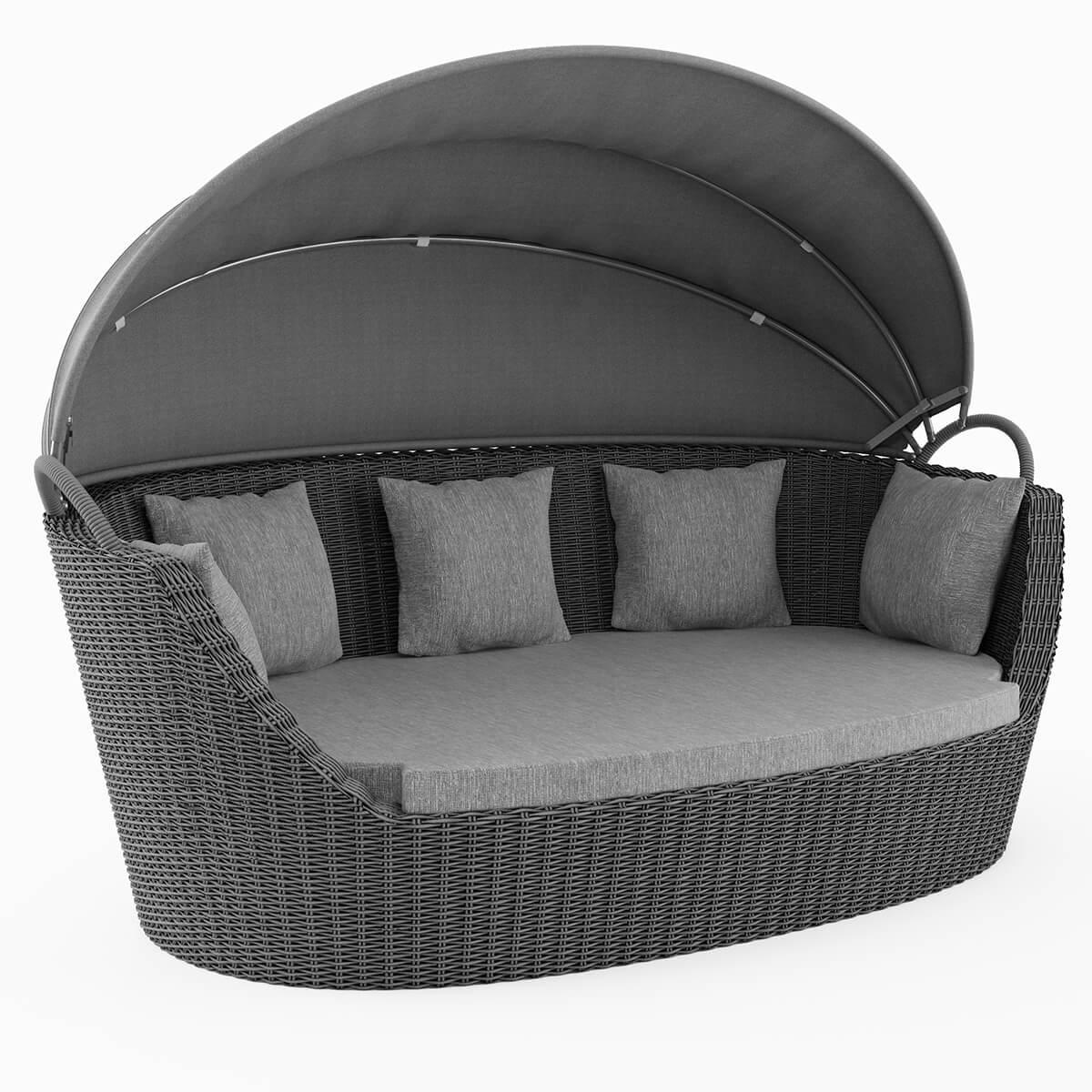 Градински диван, сив, Portofino