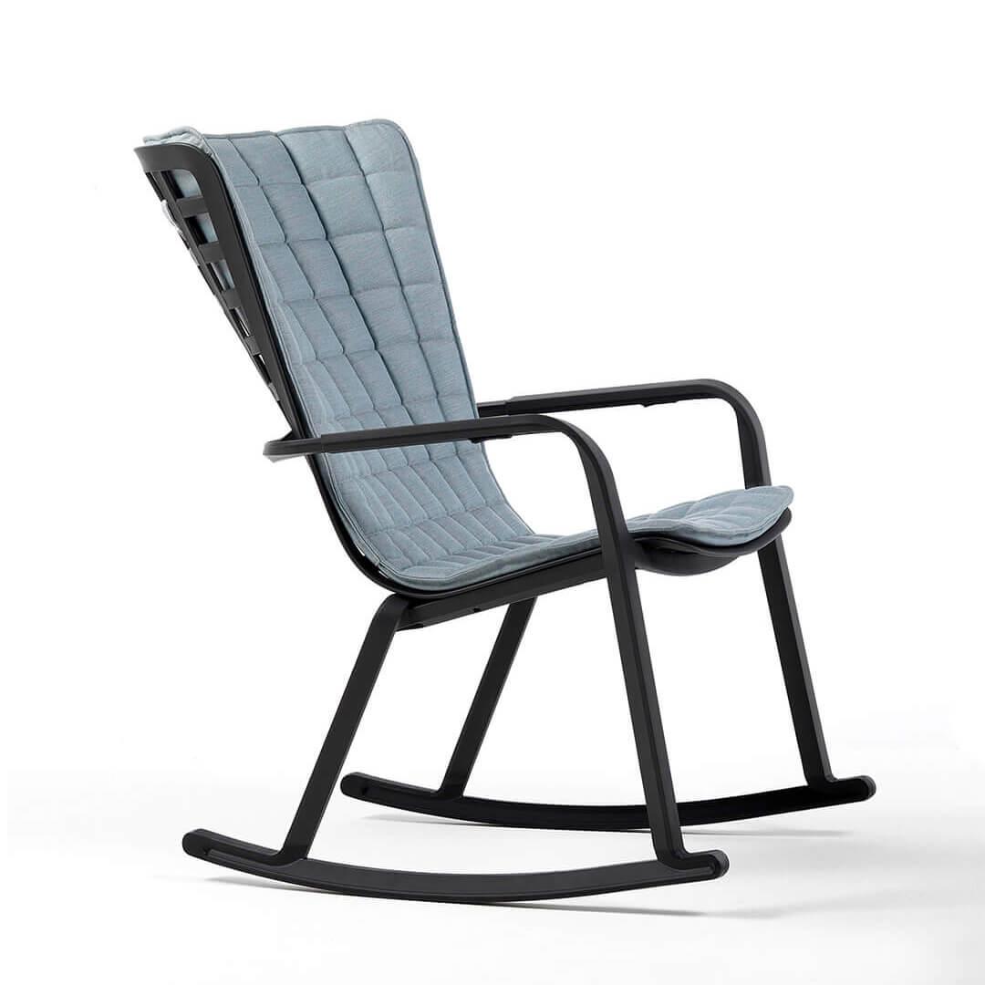 Люлеещ се градински стол с висока облегалка и възглавница Folio
