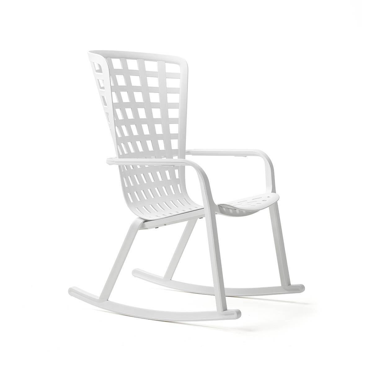 Люлеещ се градински стол с висока облегалка Folio