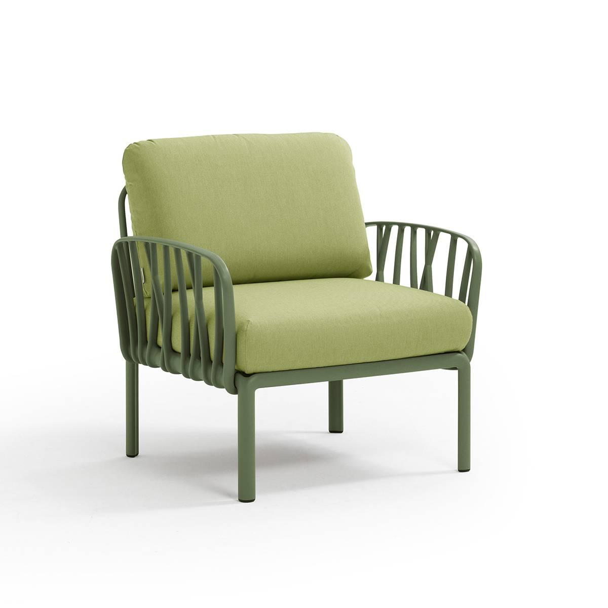 Градинско кресло с подлакътници Komodo, AGAVE/GIUNGLA