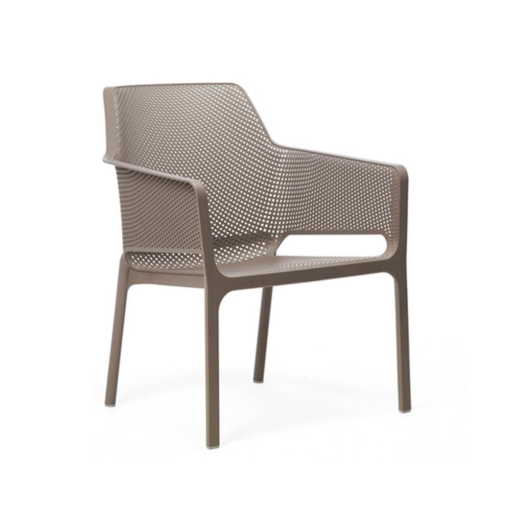 Градински стол с подлакътници Net Relax Tortora