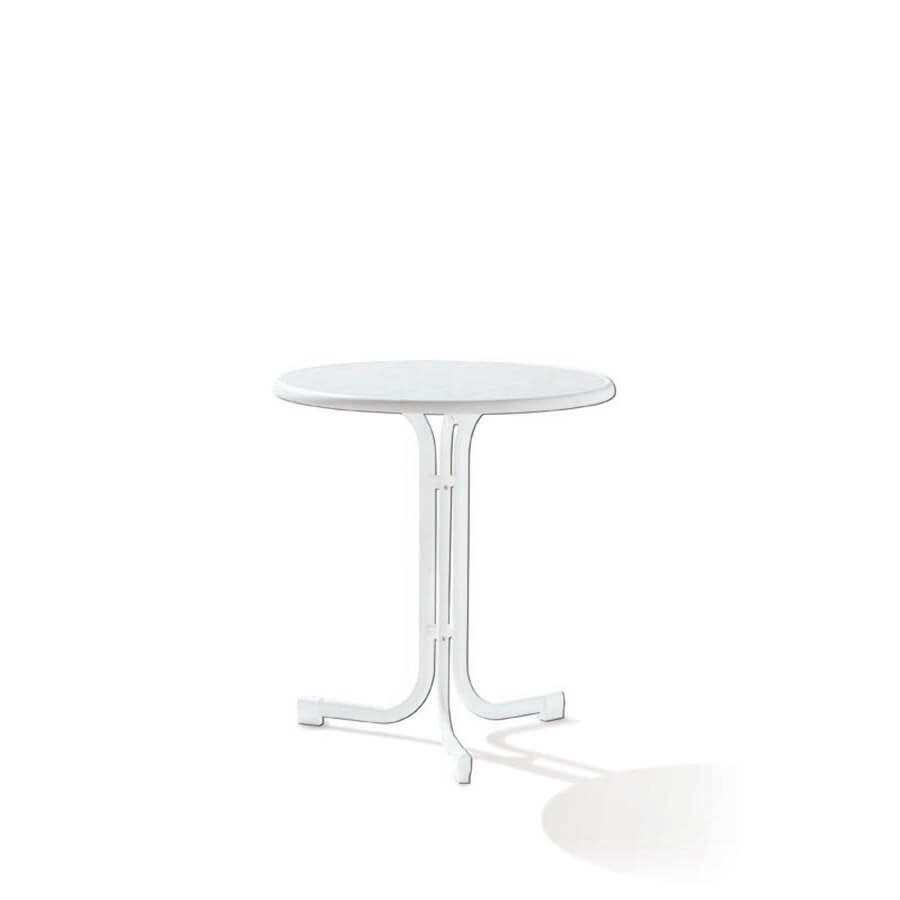 Сгъваема маса ф 70 см Boulevard - цвят бял мрамор