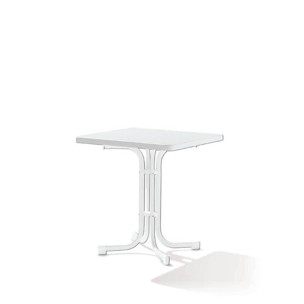 Сгъваема маса 70 х 70 см Boulevard - цвят бял мрамор