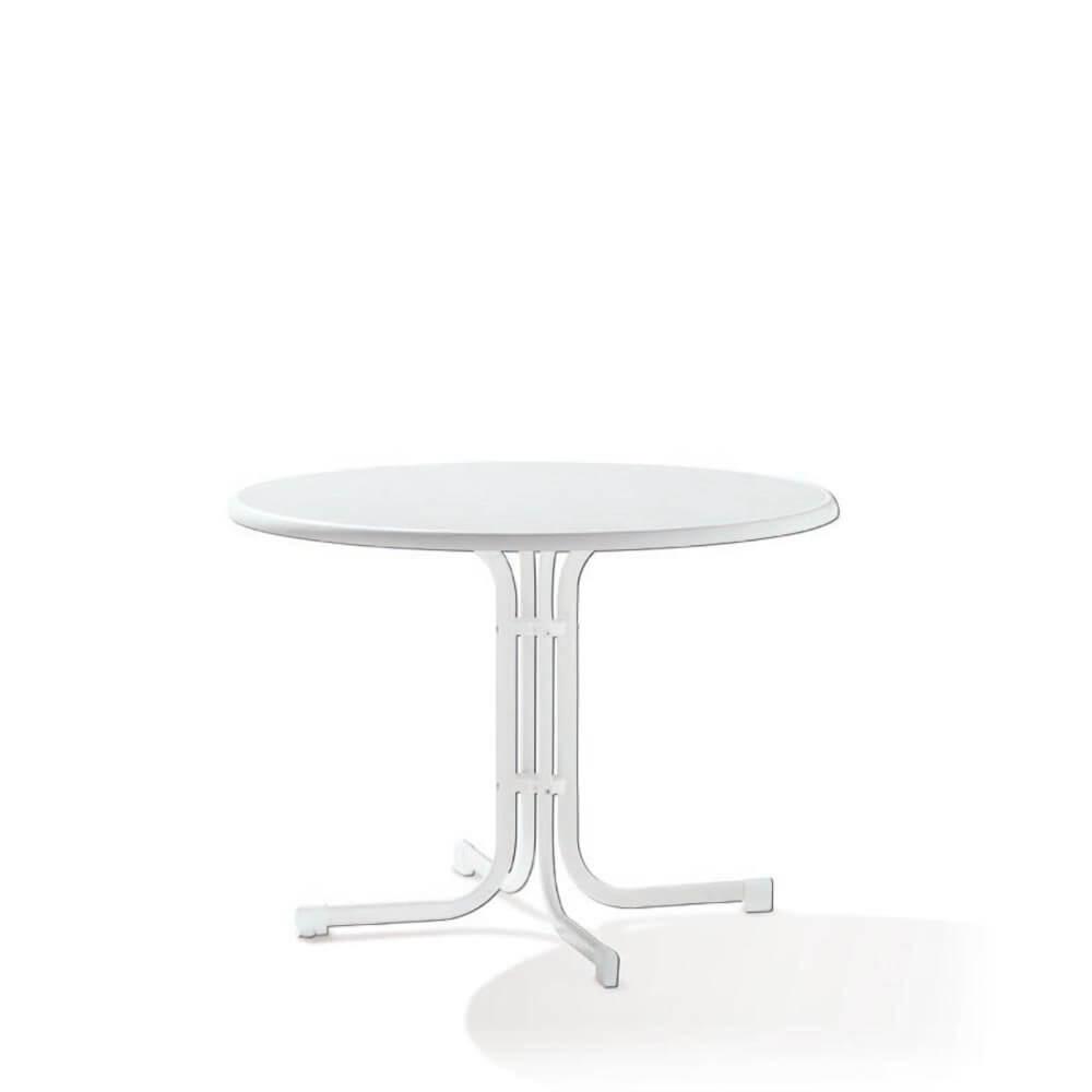 Сгъваема маса ф 100 см Boulevard - цвят бял мрамор