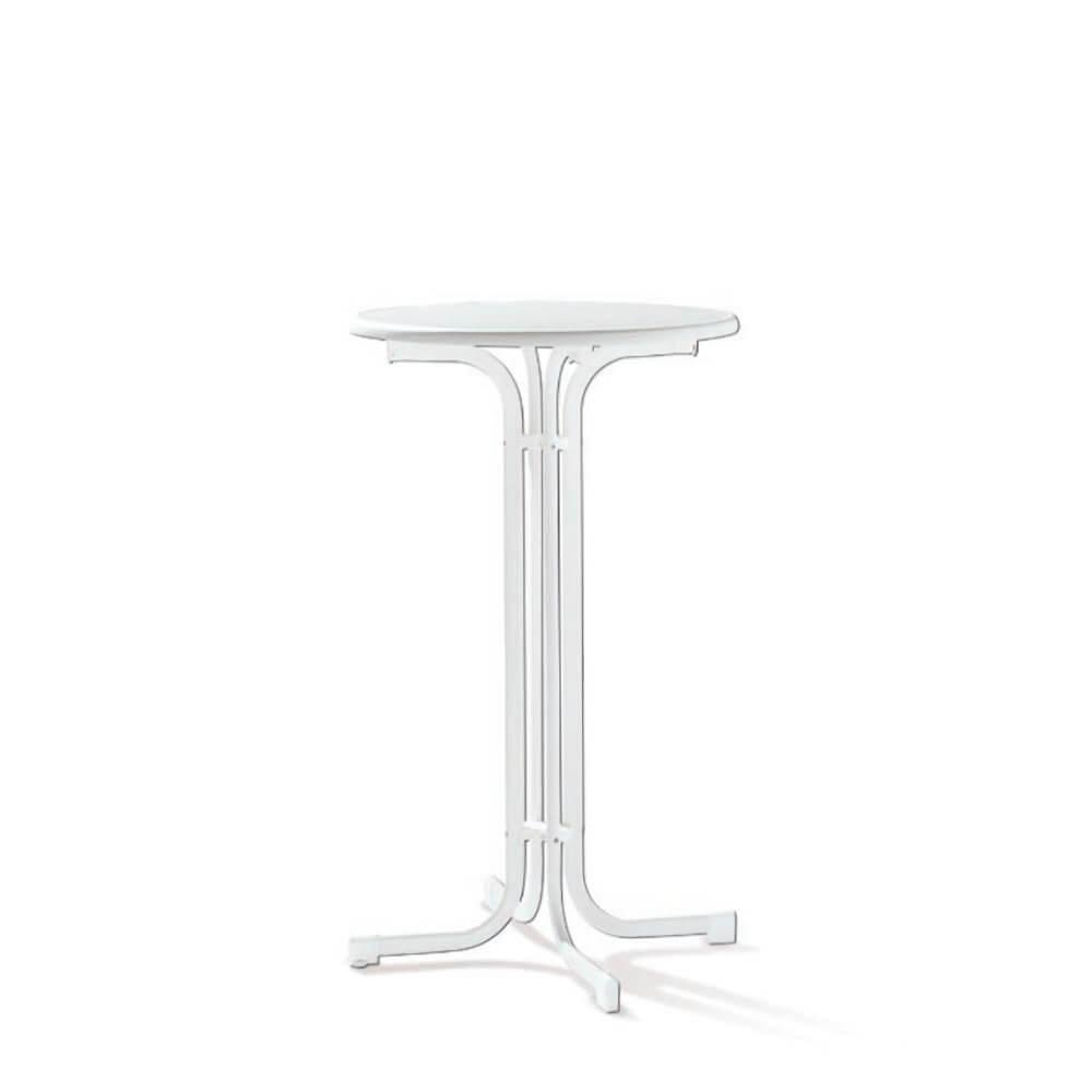 Парти сгъваема маса ф 70 см - бял цвят