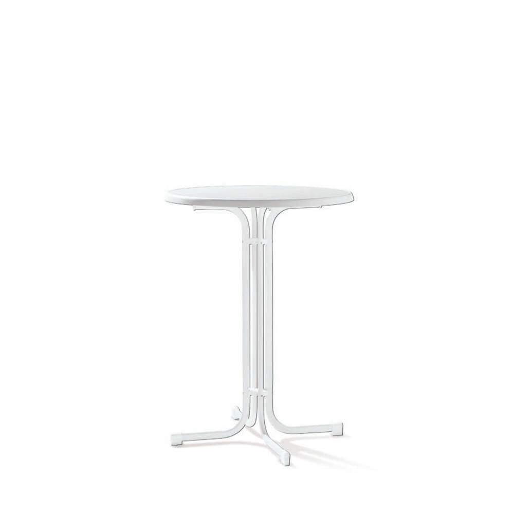 Парти сгъваема маса ф 86 см - бял цвят