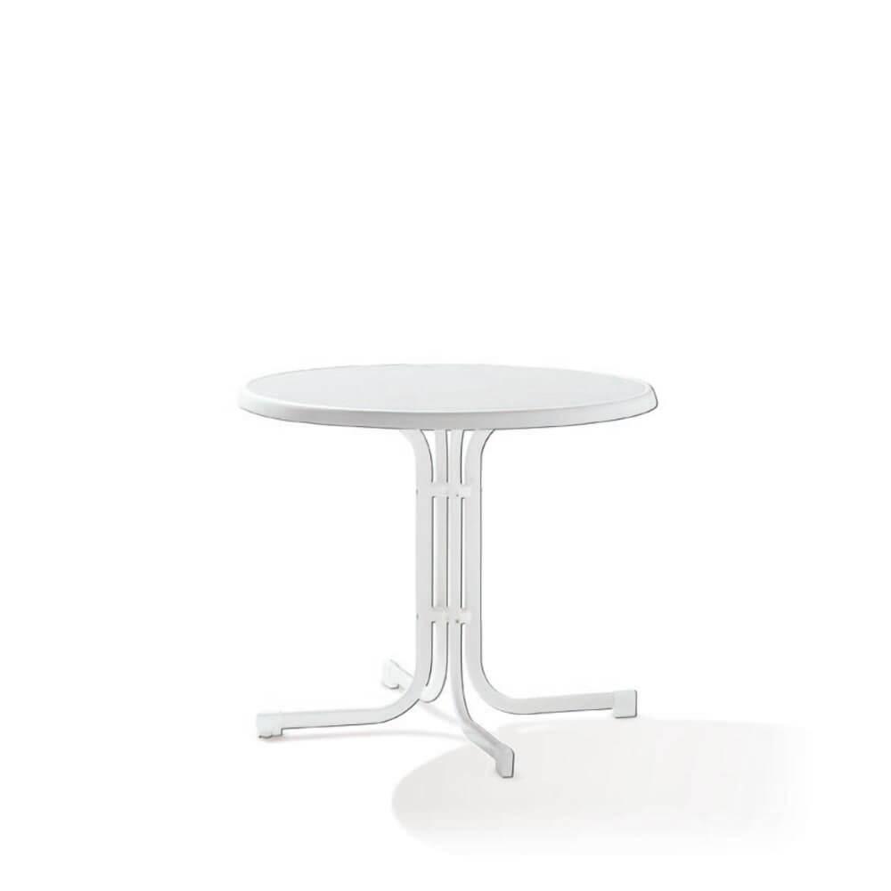 Сгъваема маса ф 86 см Boulevard - цвят бял мрамор