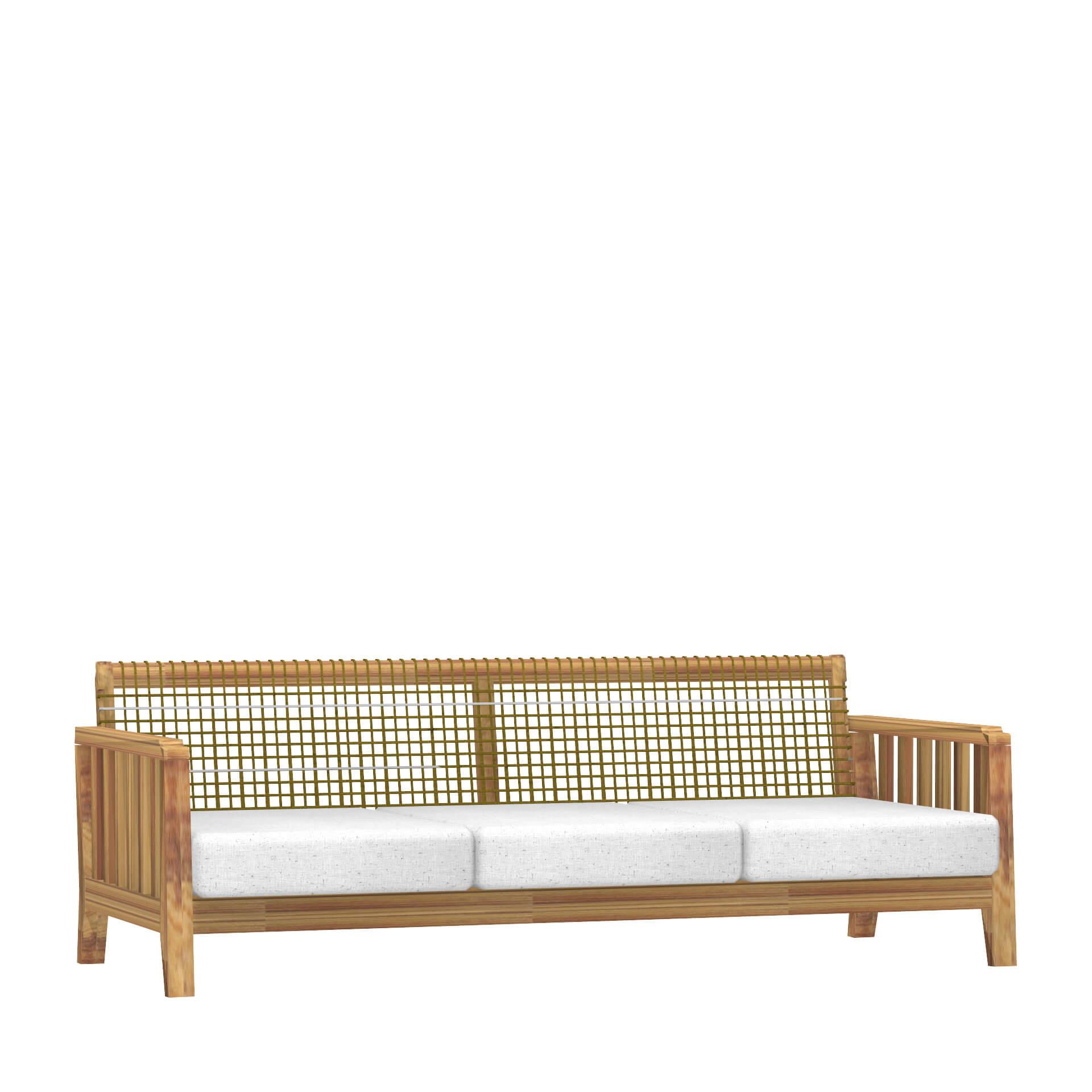 Градински триместен диван, колекция Synthesis
