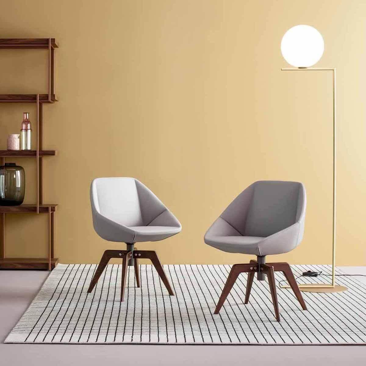 Трапезен стол Stone swivel от Bonaldo, Италия