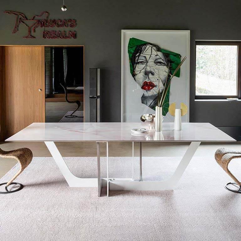 Трапезна маса Manhattan My Glass II, от Devina Nais - Италия