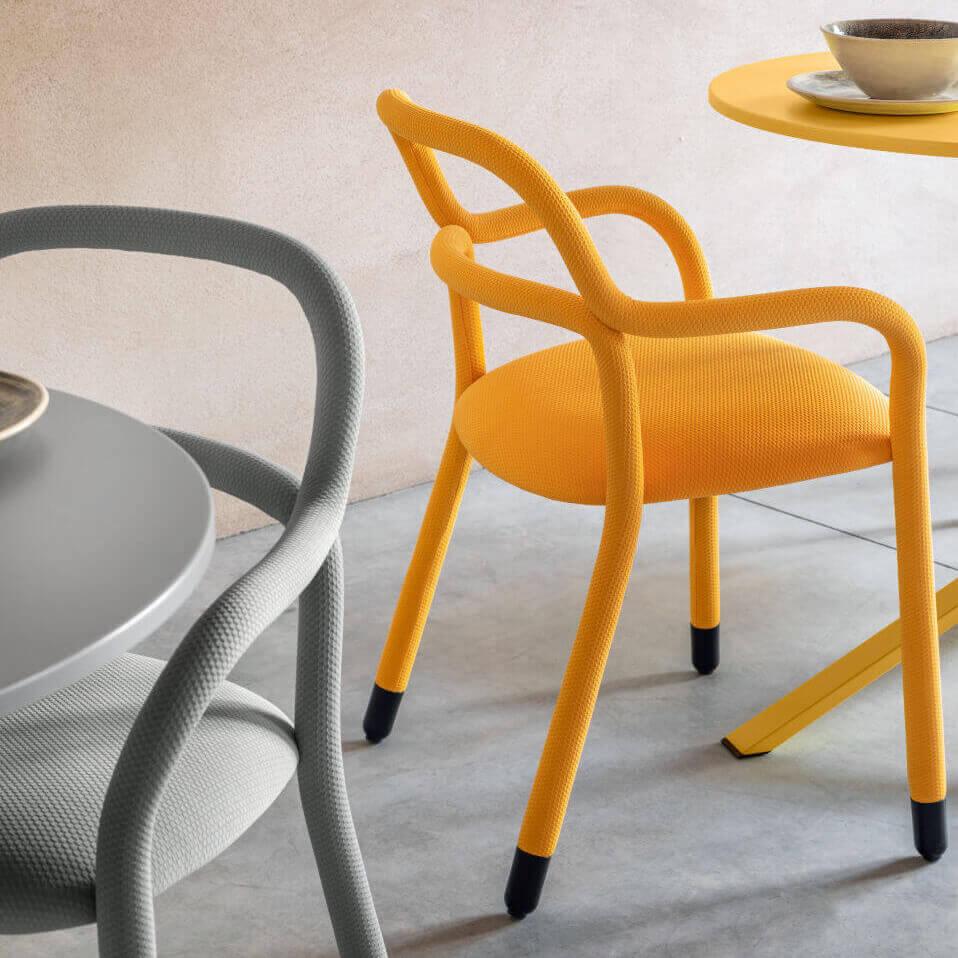 Трапезен стол Pippi P R_TS от MIDJ, Италия