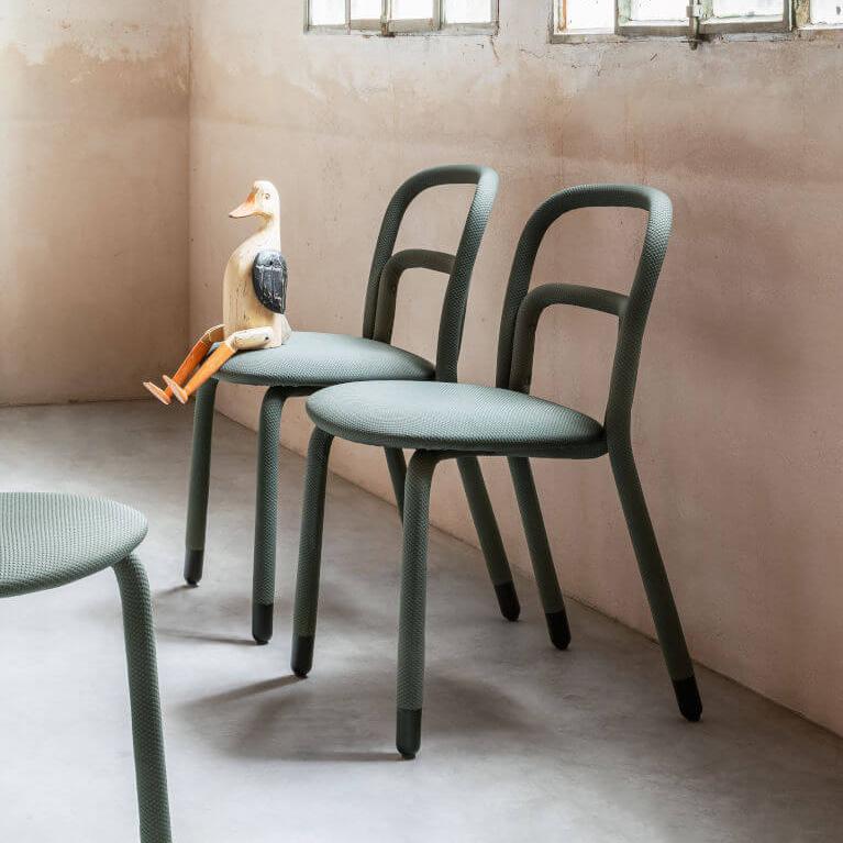 Трапезен стол Pippi S R_TS от MIDJ, Италия