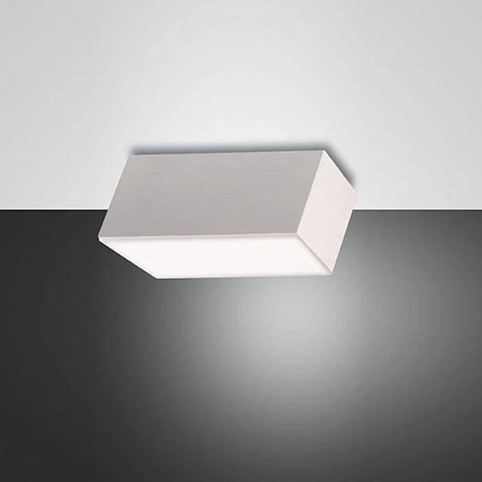 Таванна/стенна лампа Lucas, бяла