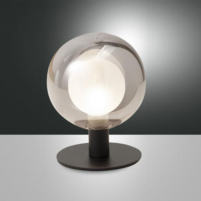 Настолна лампа Teramo, Прозрачно Сиво