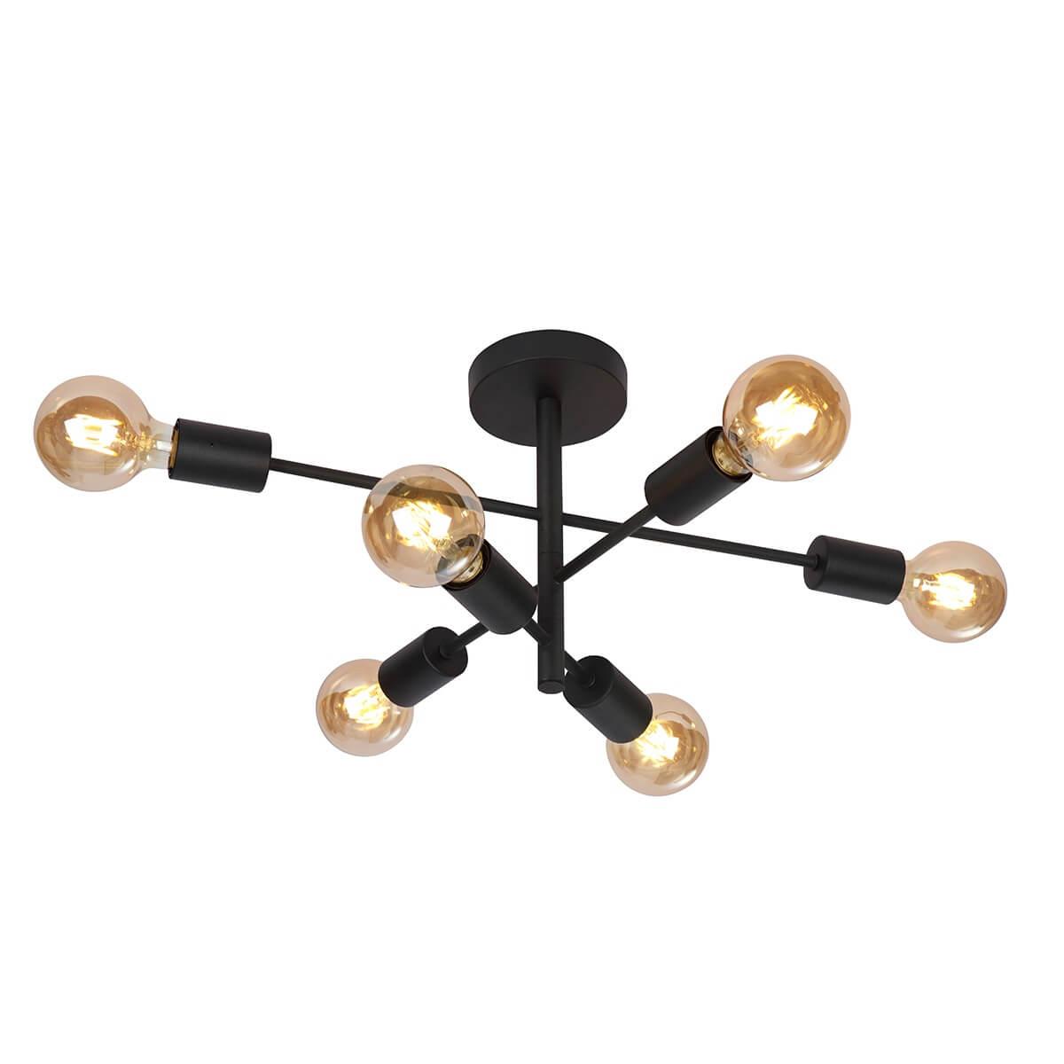 Таванна лампа Atlantico, черна