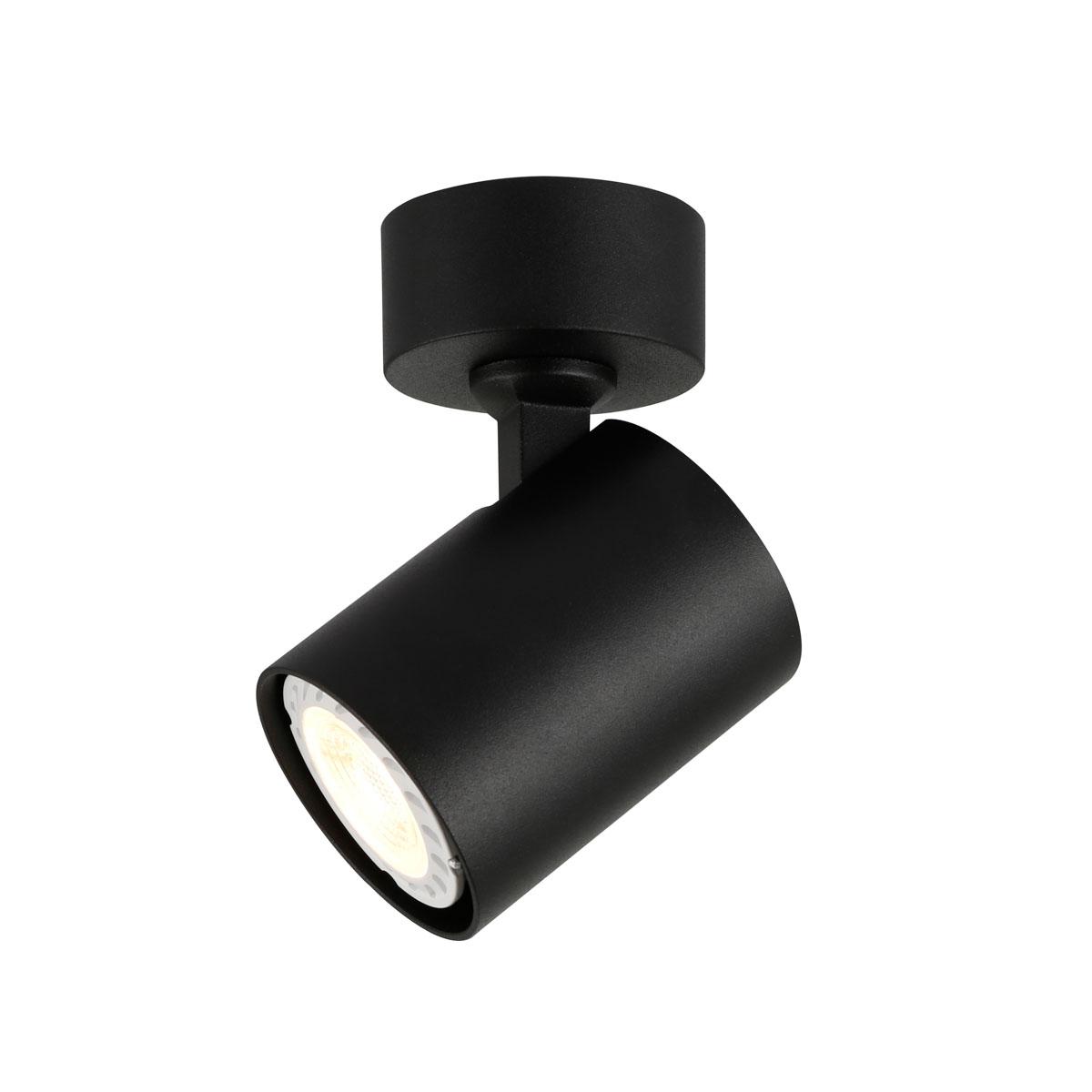 Спот лампа Lumsi с 1 тяло, черна