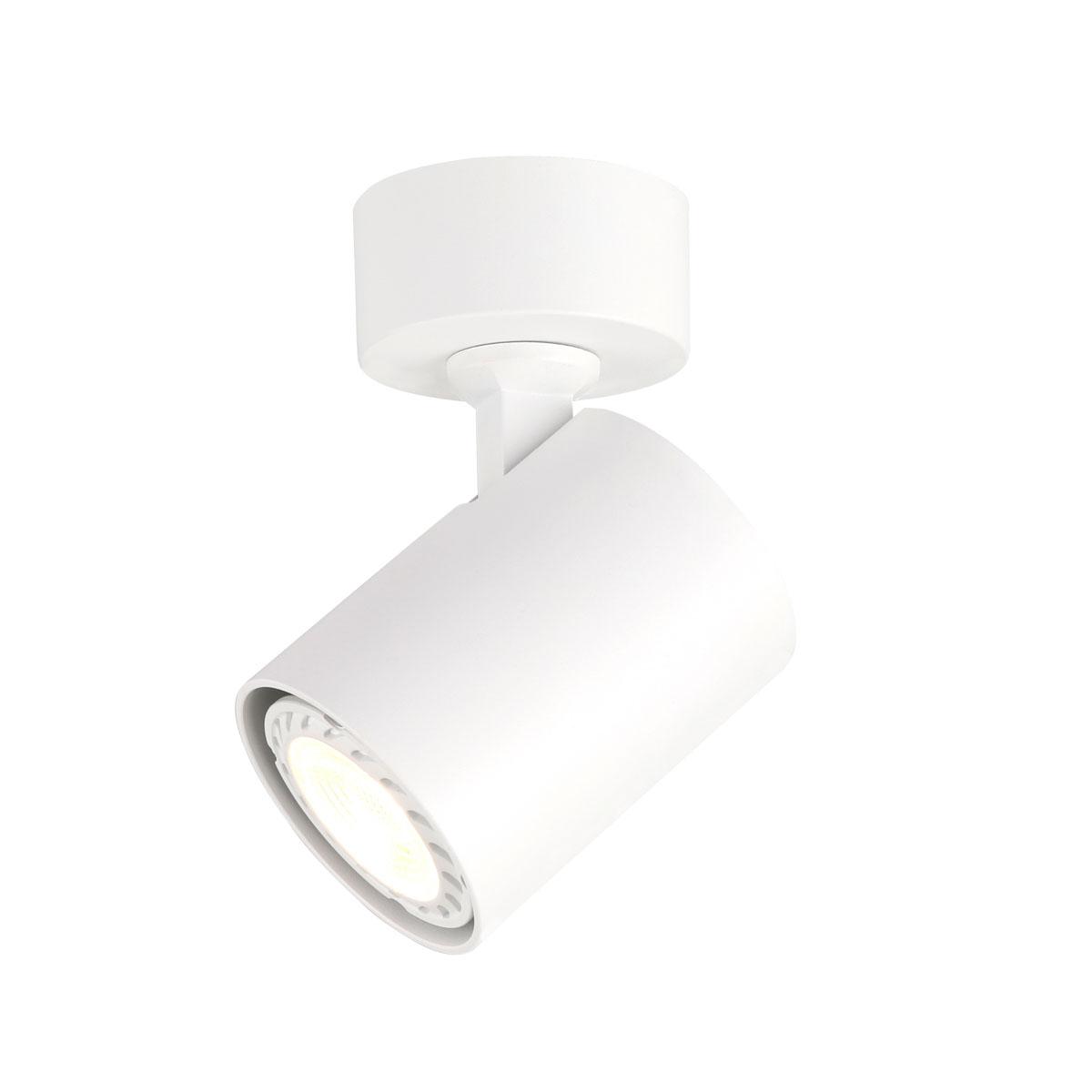 Спот лампа Lumsi с 1 тяло, бяла