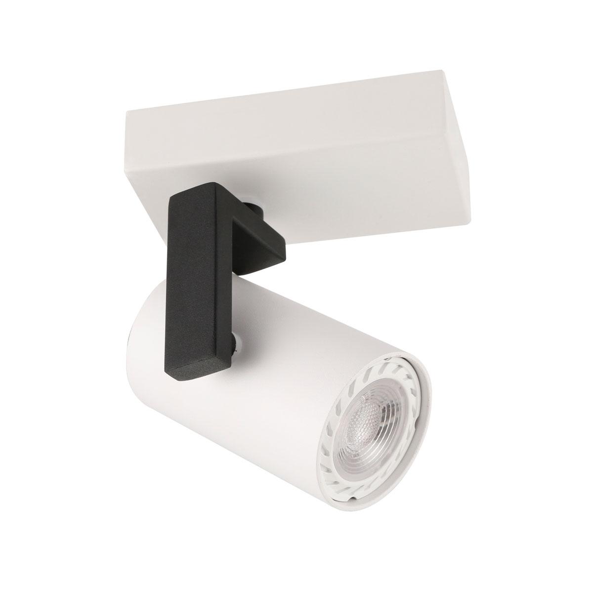 Единична спот лампа Mola, бяла