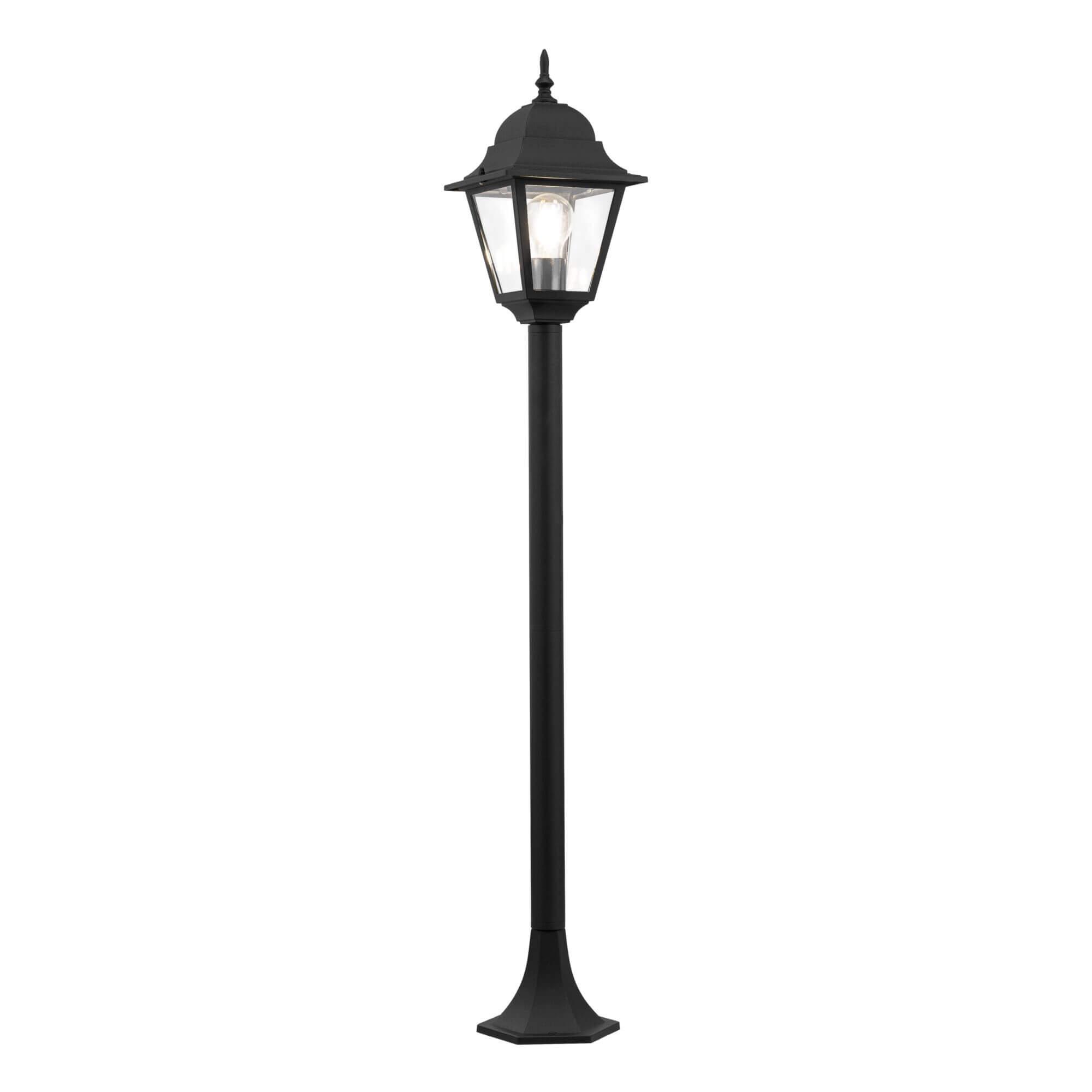 Градинска лампа Abbey Road, черно, с IP44